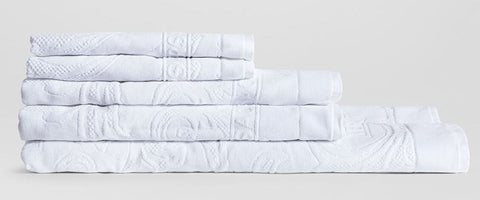Versace Home, Arabesque Bath Set 5 pcs towels, white