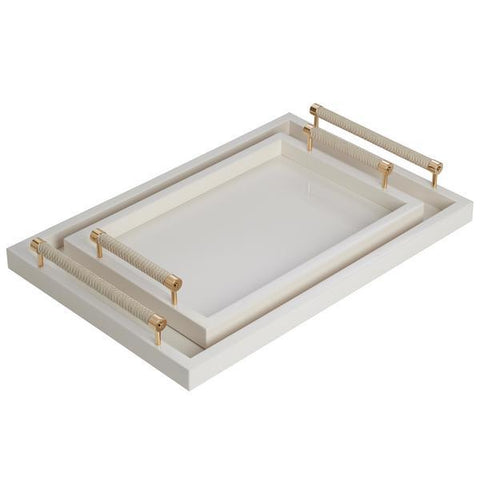 Riviere Lacquered Tray Ivory, VPL/P G