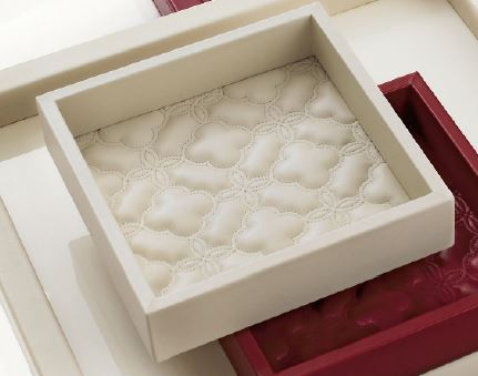 Riviere Small Leather tray/vide-poche, pink, VT1-TF