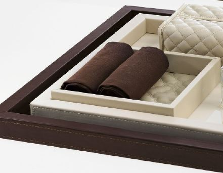 Riviere Leather tray/ vide-poche, Pink VT5-TF
