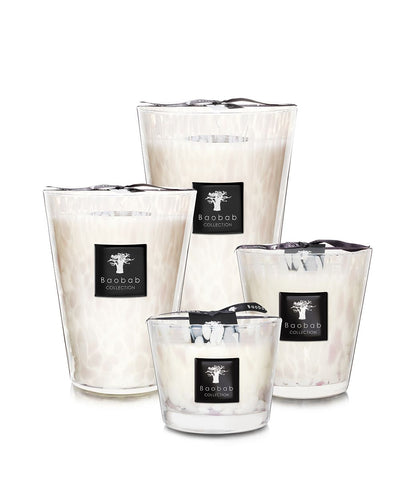 Pearls White Scented Candle - Baobab Collection