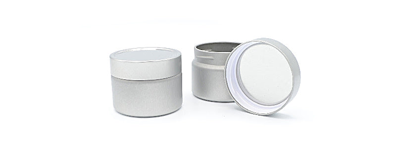 .Round Plastic Threaded Tin