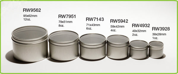 Round Deep Drawn Window Tins