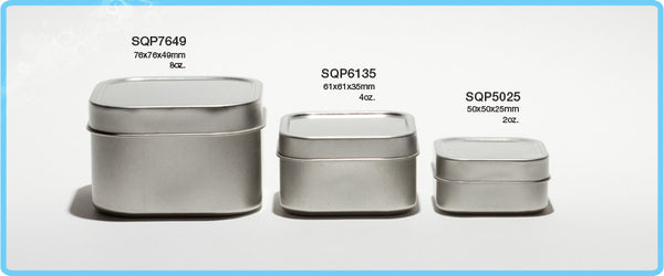 Square Drawn Tins
