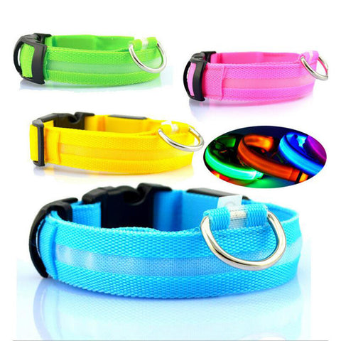 LED Safety Nylon Dog Pet Collar