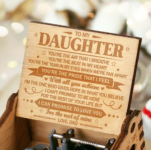To My Daughter - You're The Beat In My Heart. - Engraved Music Box