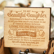 Load image into Gallery viewer, Dad to Daughter - You Will Always Be My Baby Girl - Engraved Music Box