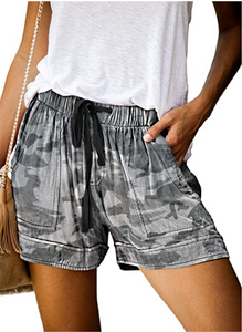 Women Comfy Casual Elastic Shorts Pants