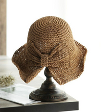 Load image into Gallery viewer, Women Beach Straw Sun Hat