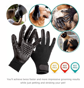 Pet Grooming Gloves For Cats, Dogs & Horse