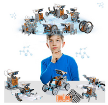 Load image into Gallery viewer, 12-in-1 Education Solar Robot Toys