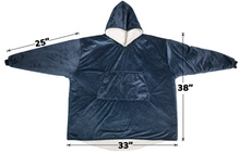 Load image into Gallery viewer, THE COMFY Oversized Microfiber & Sherpa Wearable Blanket