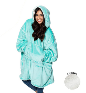 THE COMFY Oversized Microfiber & Sherpa Wearable Blanket