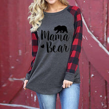 Load image into Gallery viewer, Top with letter print raglan long sleeve t-shirt