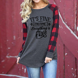Top with letter print raglan long sleeve t-shirt