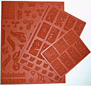 Deep etch natural red gum rubber stamps fantasy art doll domino