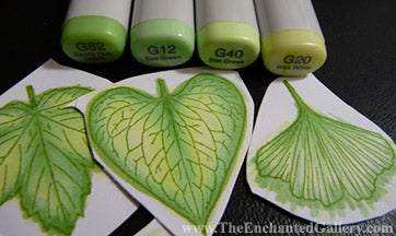 Copic-Marker-Sketch-Green-G12-G40-G20-G82-Color-Combinations