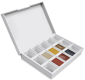 Daniel Smith desert mountains earth half pan watercolor set travel case