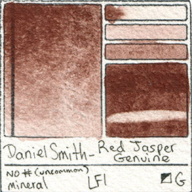 Daniel Smith Red Jasper Genuine Granulate Mineral Gem Stone Pigment Database Swatch Card