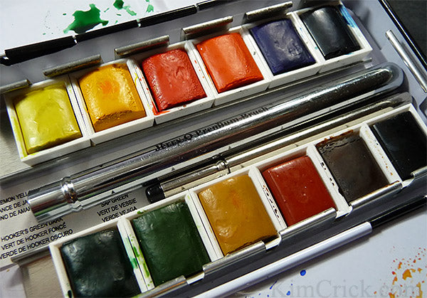 Cheap Jerry Q professional quality artist grade watercolor half pan travel set