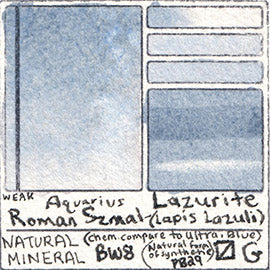Lapis Lazuli Natural Mineral Roman Szmal Aquarius Watercolor Lazurite Color Swatch Granulating