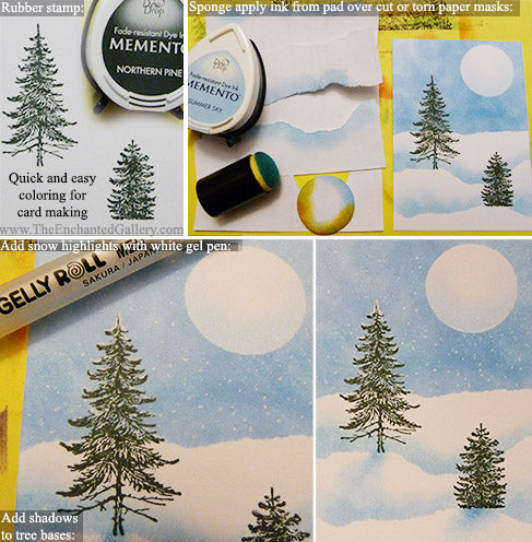 Memento-ink-pad-snow-paper-mask-rubber-stamping-sponge-dauber-tutorial-card