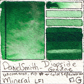 Mineral Daniel Smith Diopside Genuine Watercolor gemstone rare color swatch database pigment