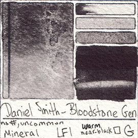 Mineral Daniel Smith Watercolor Bloodstone Genuine Color Granulating Art Pigment Database Swatch Card