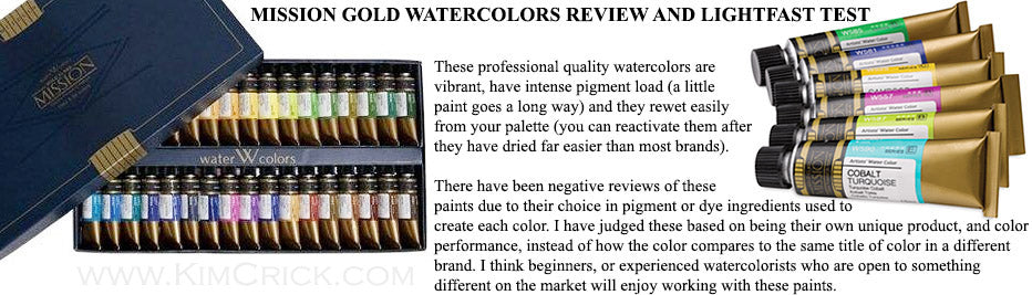mission gold watercolor review tube set pure pigment and white hybrid gouache