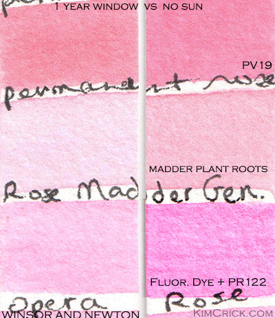 NR9 rose madder genuine watercolor lightfast test winsor and newton professional paint