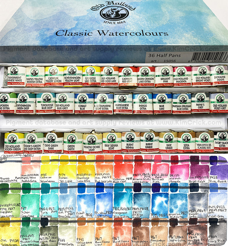 old holland watercolor 36 half pan set not travel friendly palette