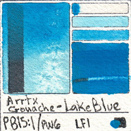PB15:1 PW6 Arrtx Gouache Lake Blue Color Pigment Database Paint
