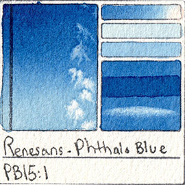 PB15:1 Renesans Watercolor Phthalo Blue Color Chart Poland Etsy alittlecreativeme
