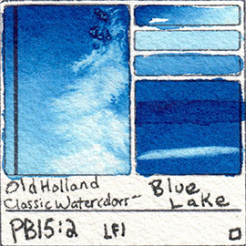 PB15:2 Old Holland Classic Watercolors Blue Lake pigment swatch rare mineral paint art professional