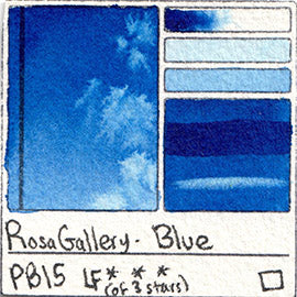 PB15 Rosa Gallery Watercolor Blue Phthalo Pigment Database