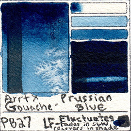 PB27 Arrtx Gouache Prussian Blue Color Pigment Database Paint