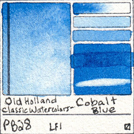 PB28 Old Holland Classic Watercolors Cobalt Blue pigment swatch rare mineral paint art professional