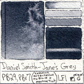 Jane's Grey Jane Blundell watercolor by daniel smith extra fine paint blue gray mixed neutral