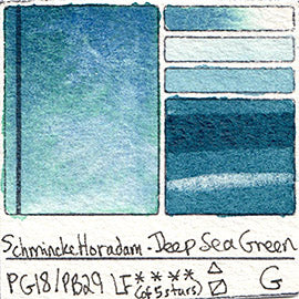PG18 PB29 Schmincke Professional Watercolor Deep Sea Green Granulating Special Edition
