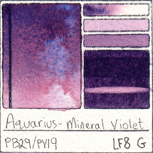 Roman Szmal Aquarius Watercolor Mineral Violet Swatch Card Color Chart