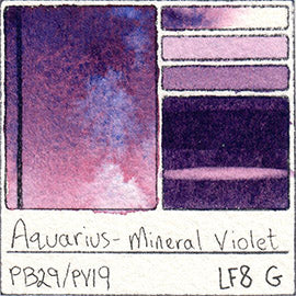 PB29 PV19 Roman Szmal Aquarius Watercolor Mineral Violet Swatch Card Color Chart