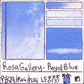 PB29 PW6 PW4 Rosa Gallery Royal Blue Watercolor Paint Pigment Database Handprint Color Chart