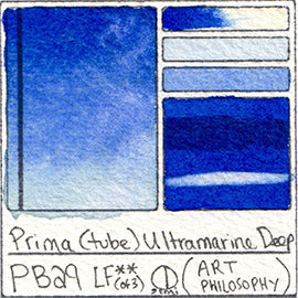 PB29 Prima Tube Ultramarine Deep Swatch Card