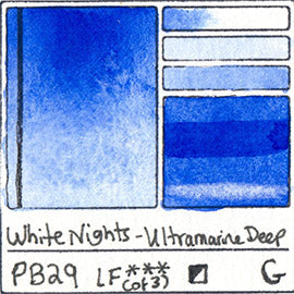 PB29 White Nights Watercolor Ultramarine Deep