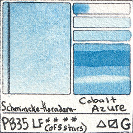 PB35 Schmincke Horadam Watercolor French Cobalt Azure Granulating Art Pigment Database