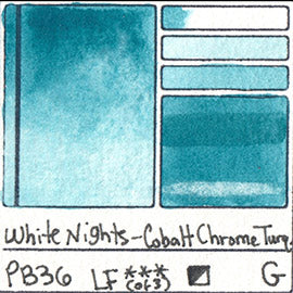 PB36 White Nights Watercolor Cobalt Chrome Turqoise