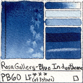 PB60 Rosa Gallery Watercolor Blue Indantrene Indanthrone Indanthrene Pigment Database