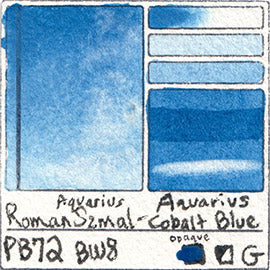 PB72 Roman Szmal Aquarius Watercolor Aquarius Cobalt Blue Color Swatch Granulating