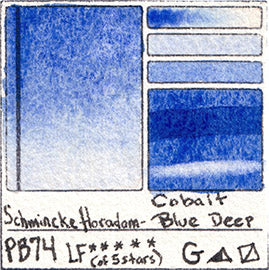 PB29 Schmincke Horadam Watercolor Cobalt Blue Deep Granulating Art Pigment Database