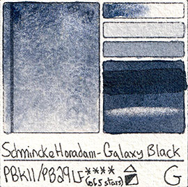 PBk11 PB29 Schmincke Professional Watercolor Galaxy Black Granulating Special Edition